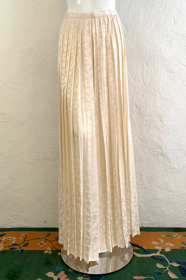 Vintage Adolfo Pleated XO Palazzo Pant on Mannequin  front at Recess Los Angeles