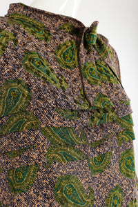 Vintage Adolfo Tossed Paisley Blouse Set fabric detail at Recess Los Angeles