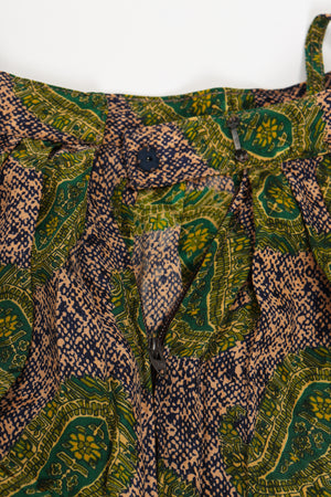 Vintage Adolfo Tossed Paisley Palazzo Pant Set waist detail at Recess Los Angeles