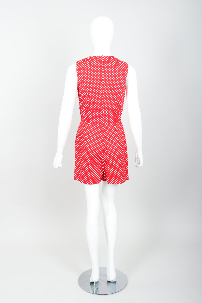Vintage Al Cooper Polka Dot Romper Hostess Skirt Set Back Romper at Recess