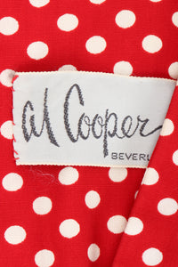 Vintage Al Cooper Polka Dot Romper Hostess Skirt Set Label at Recess