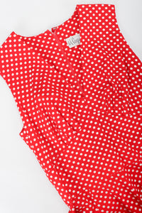 Vintage Al Cooper Polka Dot Romper Hostess Skirt Set Romper Bodice Crop at Recess
