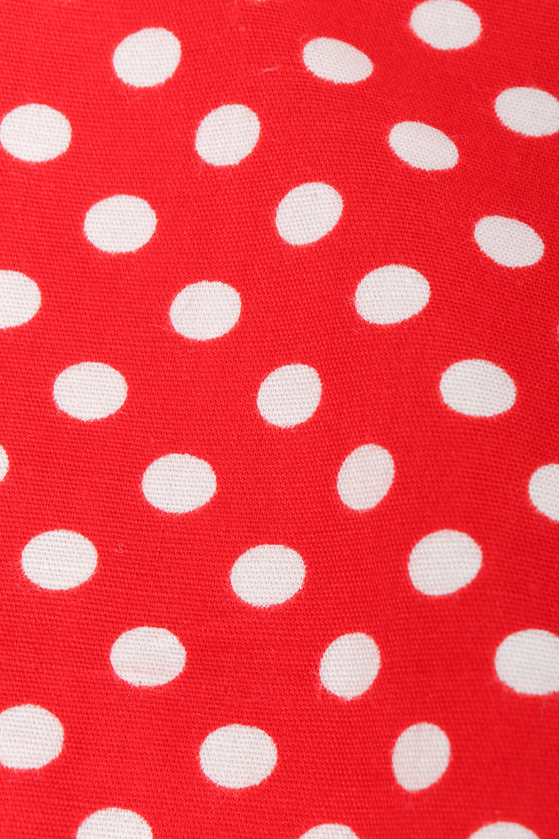 Vintage Al Cooper Polka Dot Romper Hostess Skirt Set Fabric at Recess