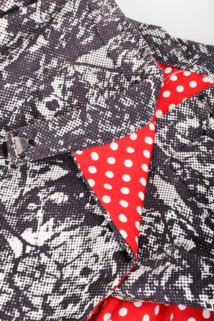 Vintage Al Cooper Polka Dot Romper Hostess Skirt Set Fabric Button at Recess