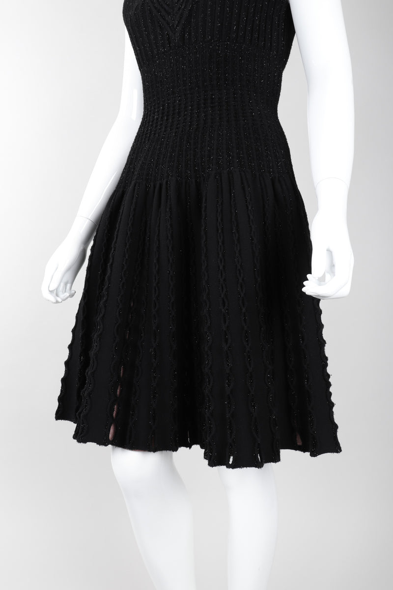 Recess Los Angeles Vintage Alaia Knit Tinsel Fit And Flare Cocktail Dress