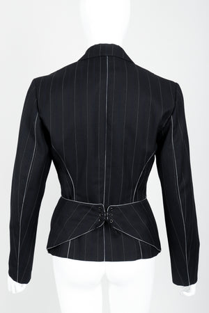 Vintage Alaia Pinstripe Contour Jacket on Mannequin back at Recess