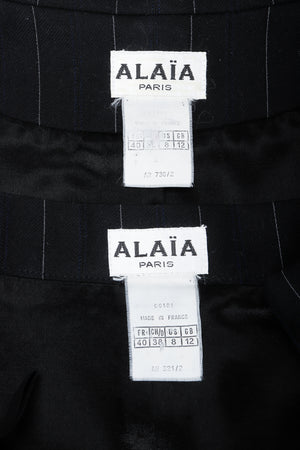 Vintage Alaia Labels on Black