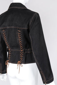 Denim Laced Moto Jacket