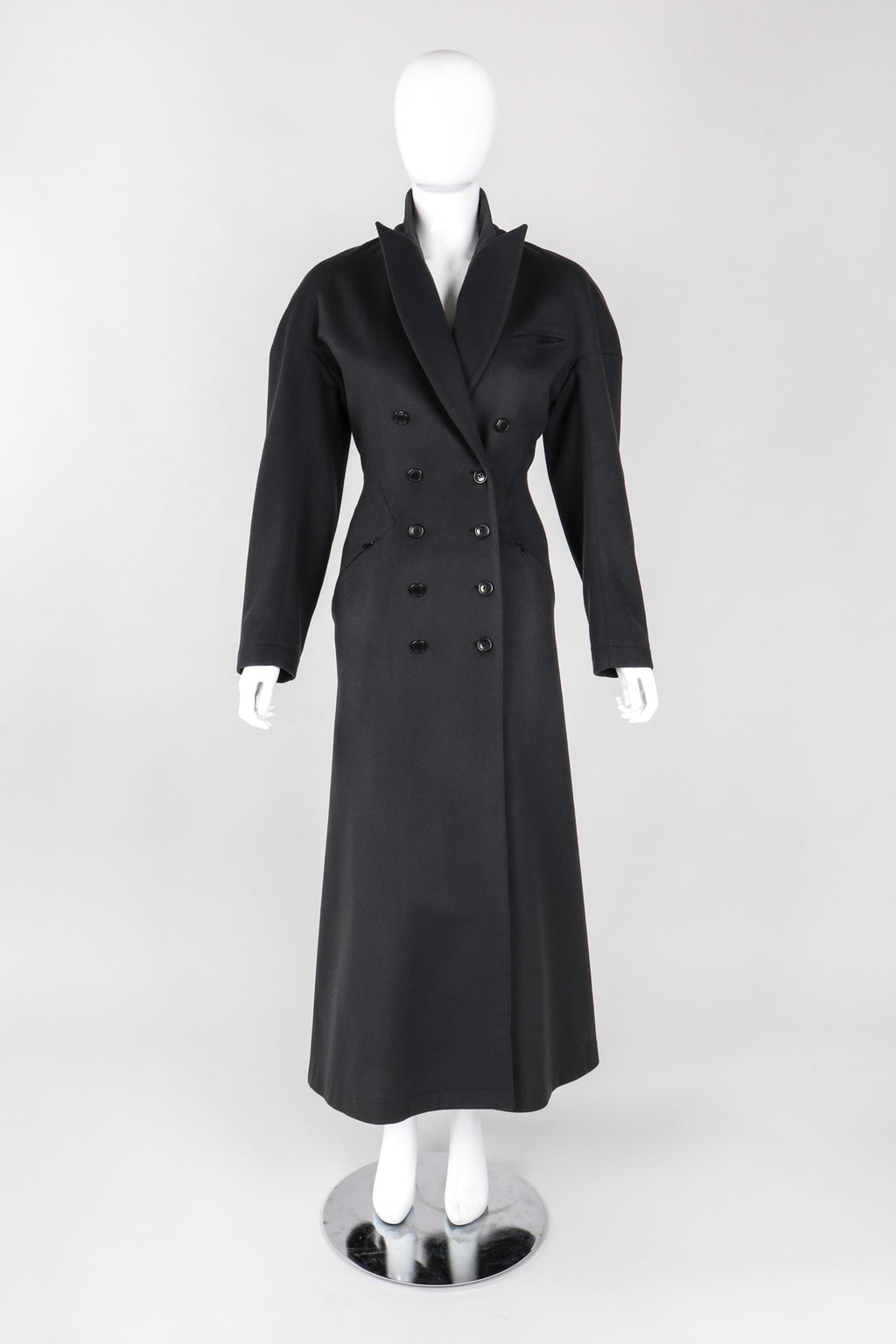 Recess Los Angeles Vintage Alaia Double-Breasted Long Wool Reefer Coat