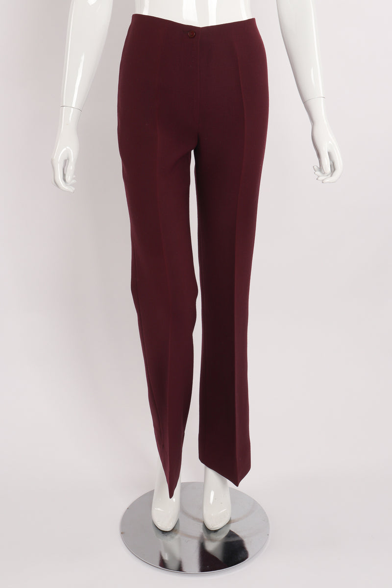 Vintage Alan Austin Plum Straight Leg Pant on Mannequin front at Recess Los Angeles
