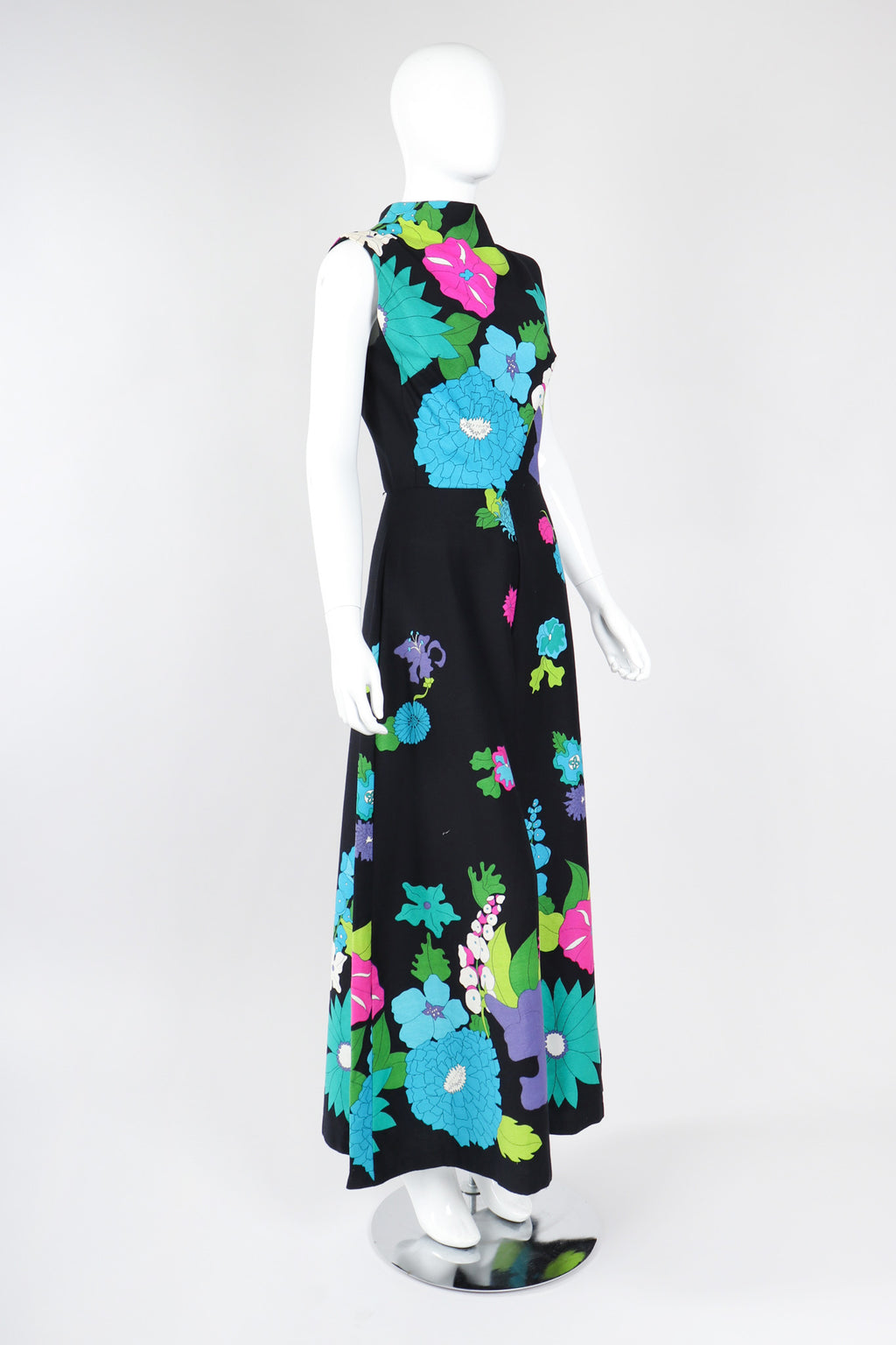 Recess Los Angeles Vintage Alice Polynesian Mod Hot Floral Jumpsuit