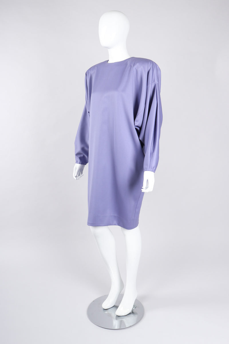 Recess Los Angeles Vintage Alek Singer Tapered Silk Cocoon Shift Dress