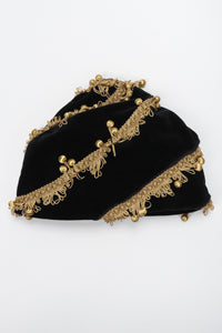 Recess Los Angeles Vintage Andrew Wilkie Velvet Ball Fringe Fez Toque Hat