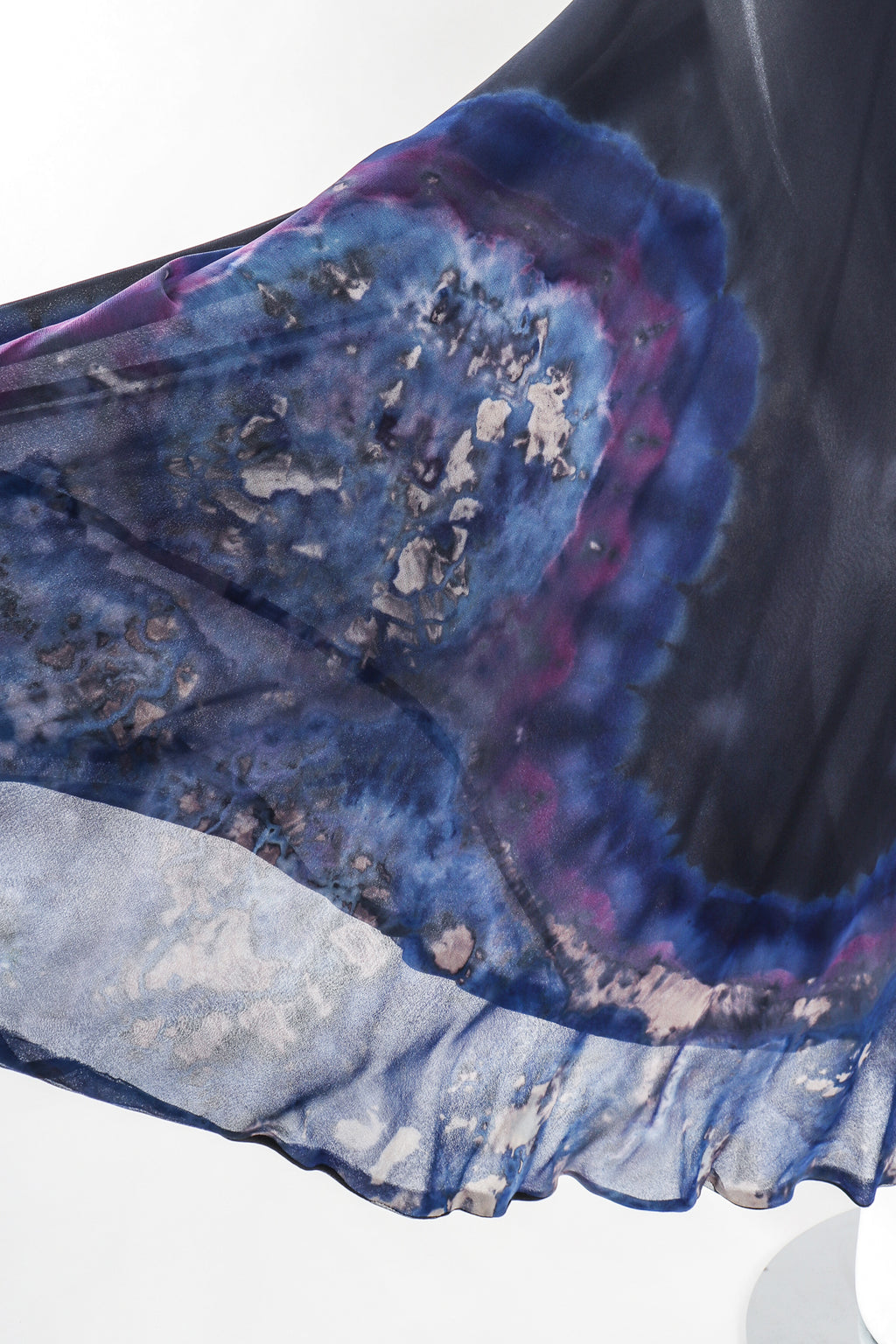 Recess Los Angeles Designer Consignment Resale Recycled Vintage Antoine Akopian Silk Chiffon Tie-Dye Galaxy Wrap Skirt