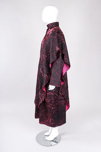 Recess Los Angeles VIntage Babette Neon Crackle Smock Duster Cape Coat