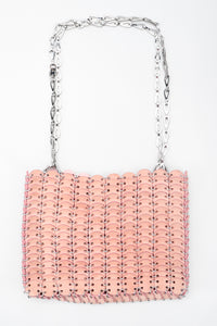Recess Los Angeles Vintage Paco Rabanne Iconic 1969 Suede Disc Chain Maille Bag