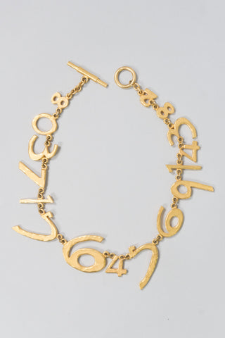 Biche de Beré Hammered Numerology Collar Necklace