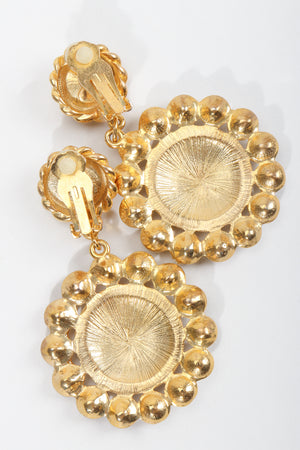 Vintage Bijoux Designs Gold Anchor Earrings Clip On at Recess LA