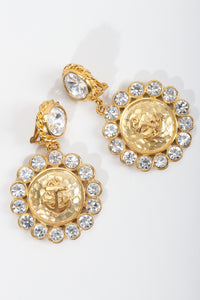 Vintage Bijoux Designs Gold Anchor Earrings at Recess LA