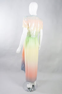 Bill Blass Rainbow Sherbet Unicorn Dress