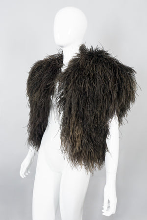 Bill Tice Vintage Chubby Ostrich Feather Jacket