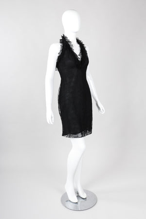 Recess Los Angeles Vintage Bill Blass Lace Halter Lingerie Slip Dress