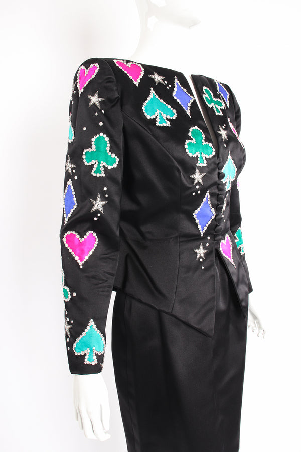 Vintage Bob Mackie Lucky Suit Jacket & Skirt Set on Mannequin crop at Recess Los Angeles