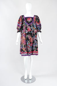 Recess Los Angeles Designer Consignment Vintage Bob Mackie Peasant Babydoll Muumuu Swing Dress