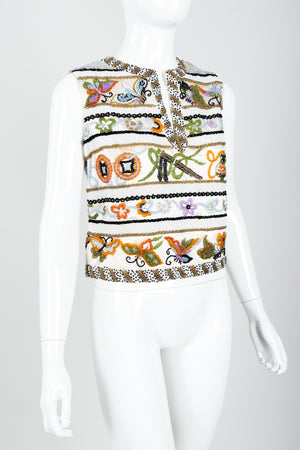 Vintage Boutique by Jo Ro Imports Beaded Butterfly Top on Mannequin angle at Recess