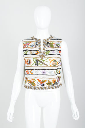 Vintage Boutique by Jo Ro Imports Beaded Butterfly Top on Mannequin front at Recess