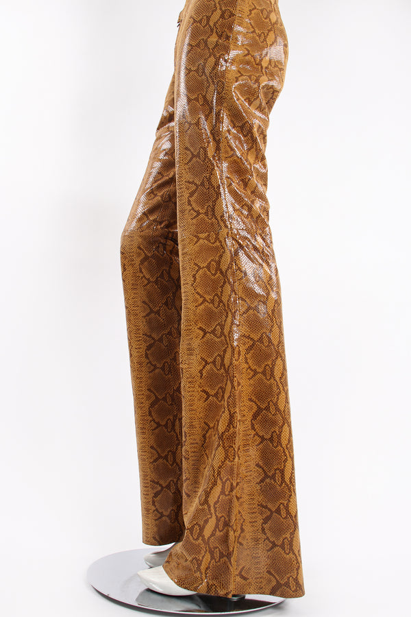 Vintage Braude Snakeskin Bootcut Pant on Mannequin leg at Recess Los Angeles