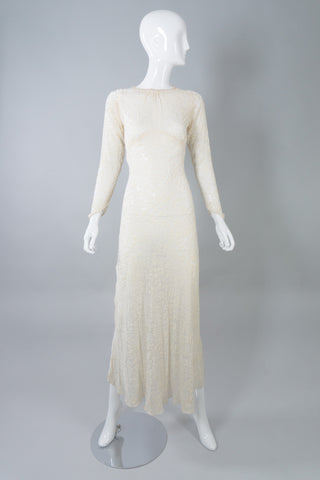 Silk Velvet Burnout Vintage Wedding Gown