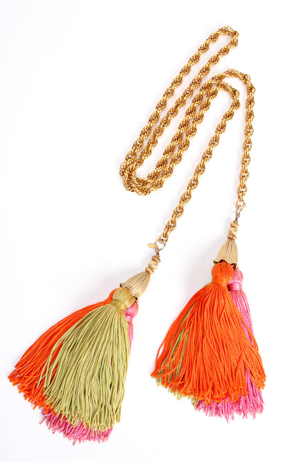 Vintage Cadoro Tropical Tassel Lariat Belt at Recess Los Angeles