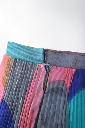 Recess Los Angeles Vintage Capri Designs Pleated Chiffon Palazzo Pant