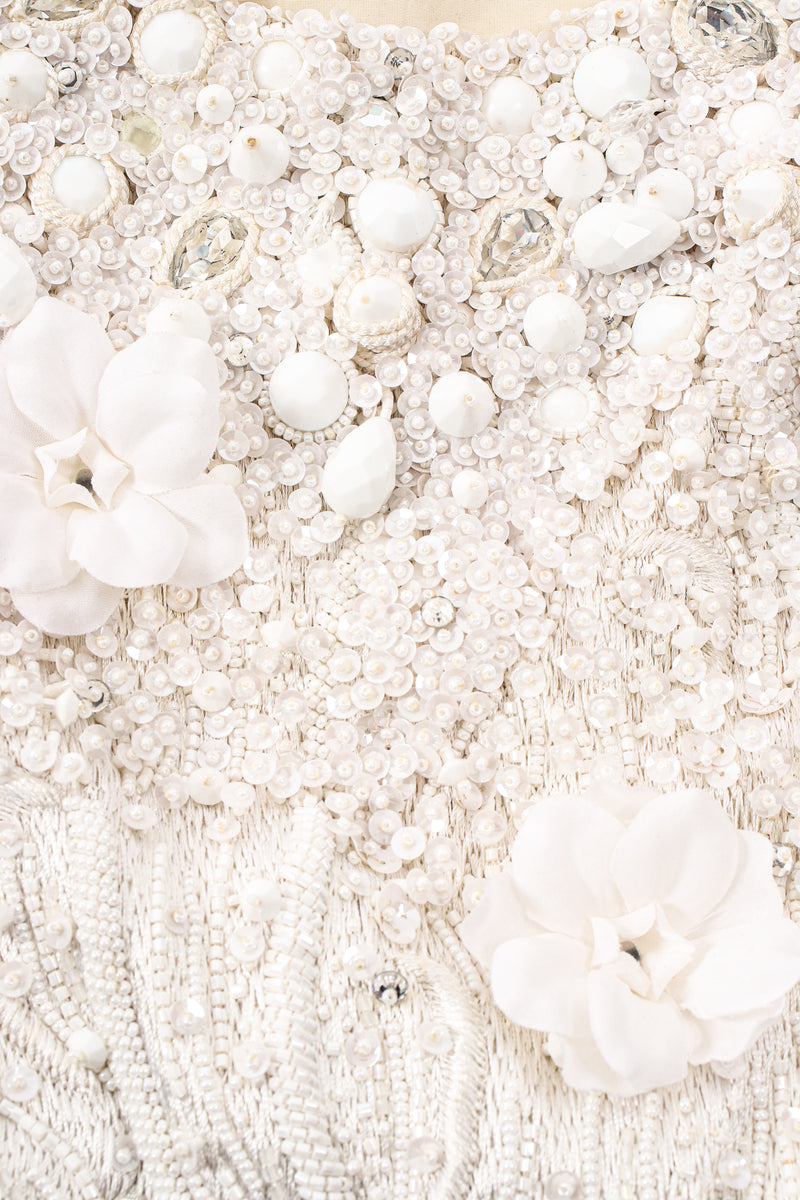 Vintage Carolyne Roehm Embellished Floral Bodice Dress detail at Recess Los Angeles