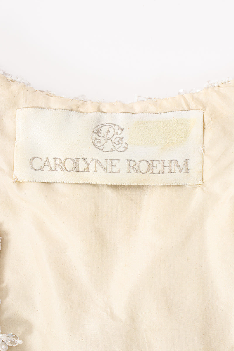Vintage Carolyne Roehm Embellished Floral Bodice Dress label at Recess Los Angeles