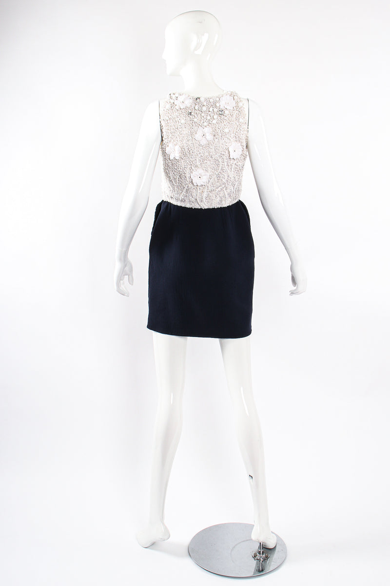 Vintage Carolyne Roehm Embellished Floral Bodice Dress on Mannequin back at Recess Los Angeles