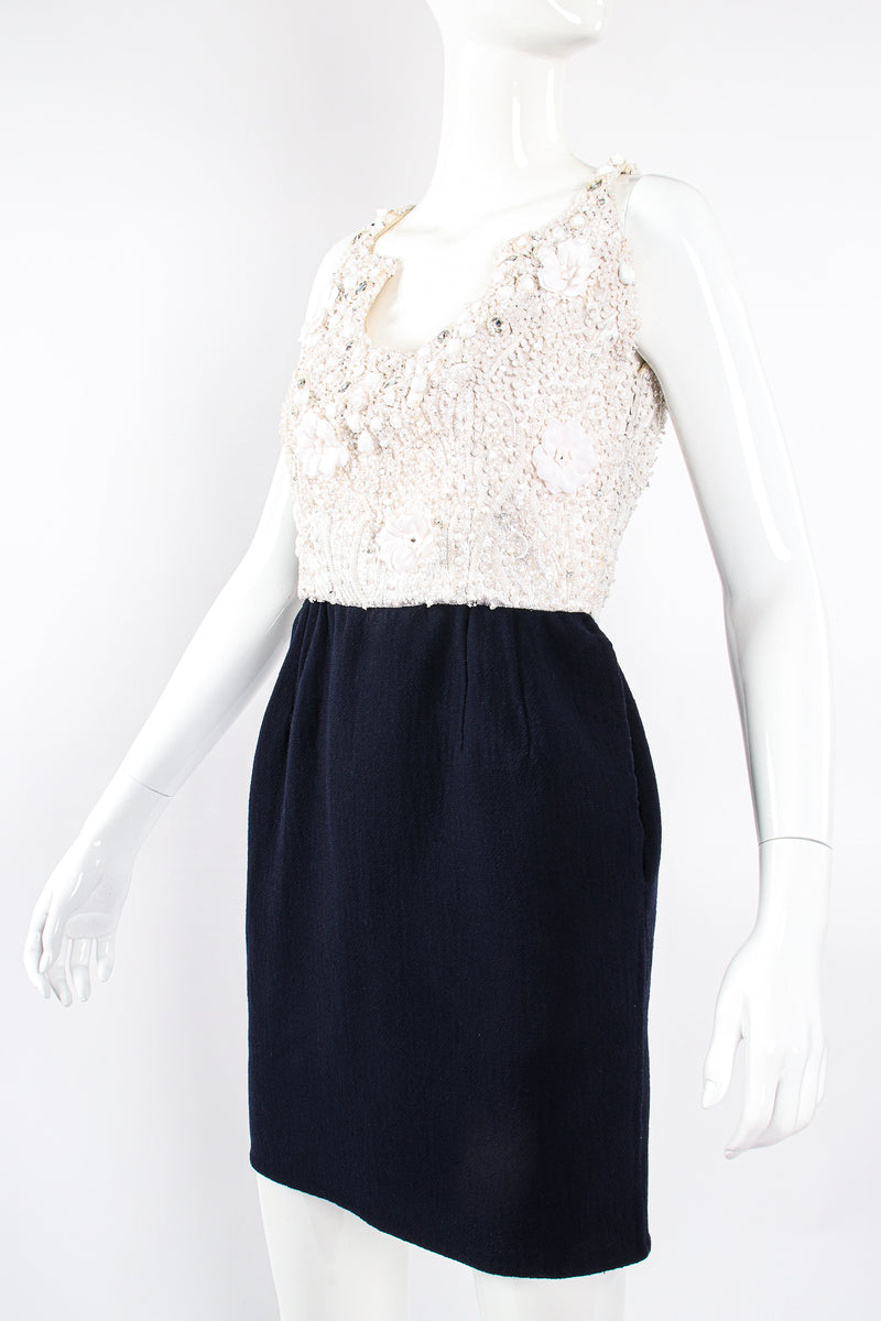 Vintage Carolyne Roehm Embellished Floral Bodice Dress on Mannequin crop at Recess Los Angeles