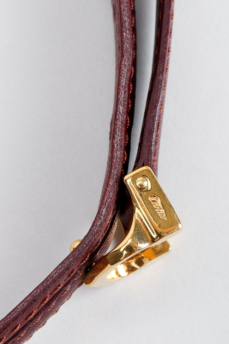 Vintage Cartier Signature stamp on gold buckle