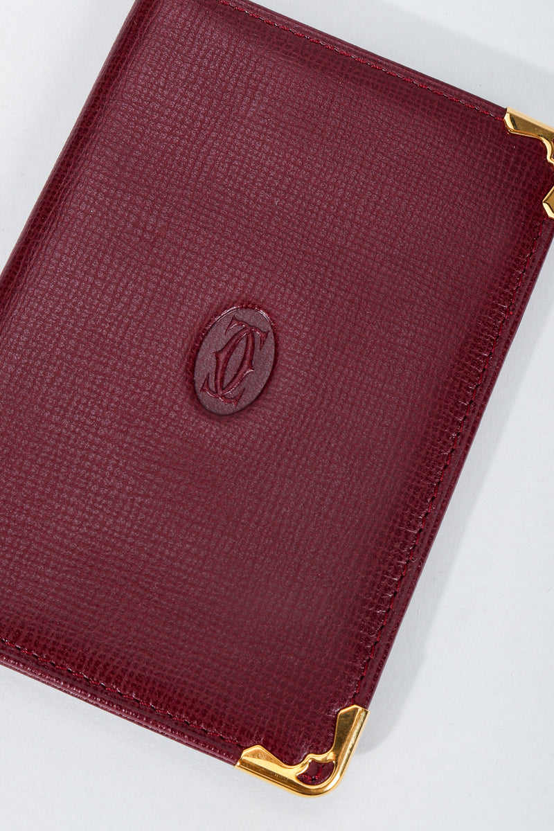 Vintage Must de Cartier Oxblood Leather Card Wallet