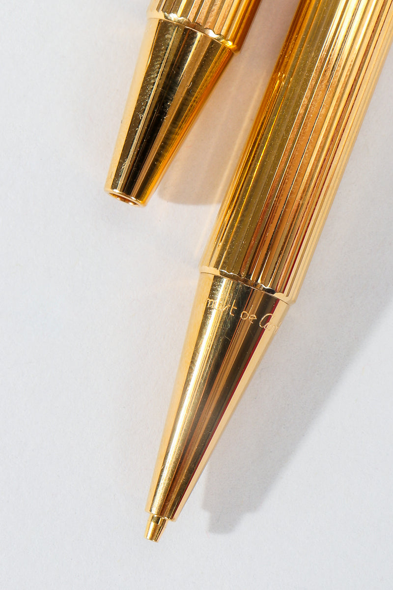 Vintage Must de Cartier Gold Pen & Pencil