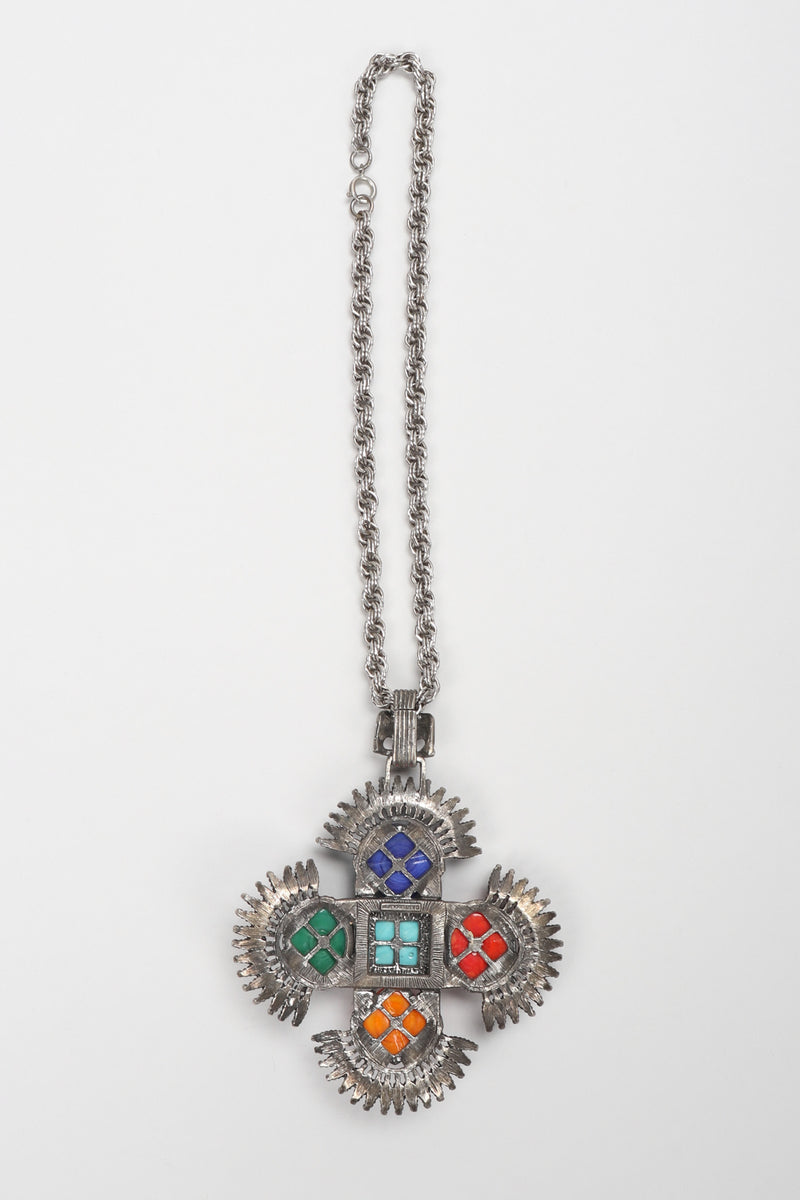 Recess Los Angeles Vintage Lawrence Larry Vrba Mayan Aztec Medallion Pendant