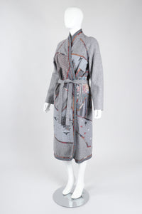 Recess Los Angeles Vintage Catherine Carr Quilted Patchwork Felt Robe Duster Jacket