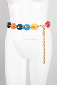 Chanel Rainbow Skittles M&M Candy Button Belt