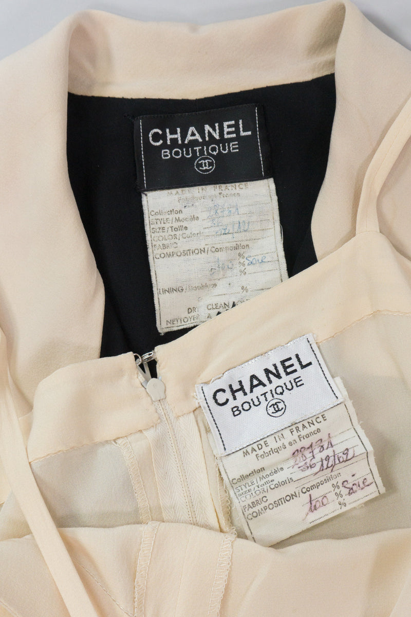 Chanel Silk Double Breasted Layered Dress