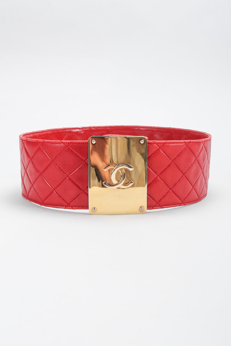 Recess Los Angeles Vintage Chanel Quilted CC Buckle Belt