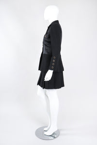 Recess Los Angeles Vintage Chanel Contrast Jacket & Pleated Skirt Set