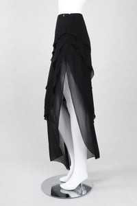 Recess Los Angeles Vintage Chanel Asymmetrical Tiered Chiffon Skirt