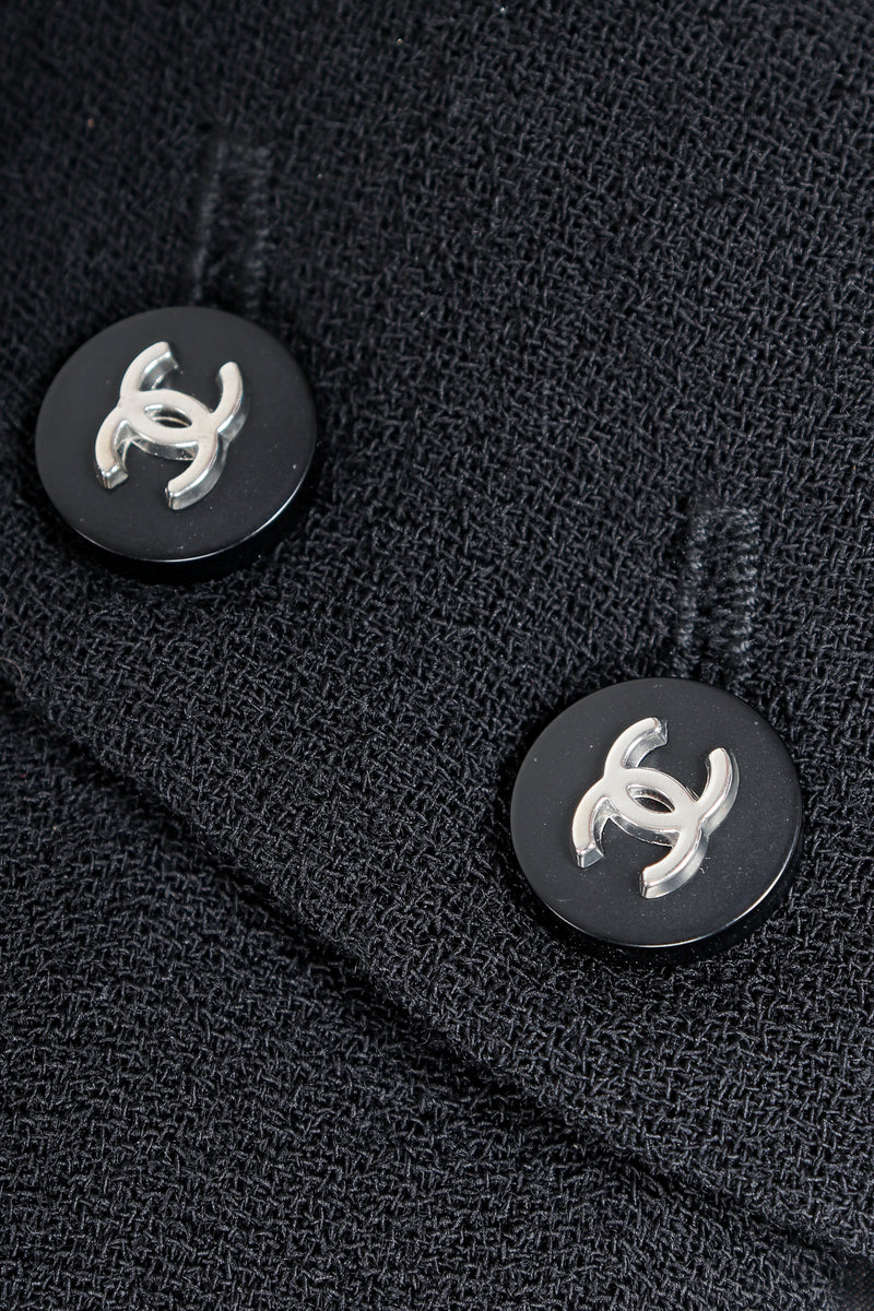 Vintage Chanel CC logo buttons on black
