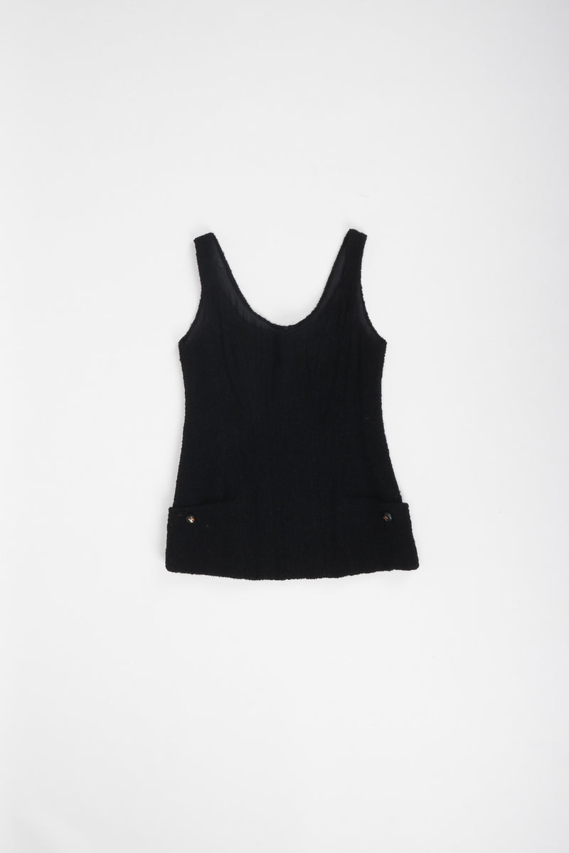 Recess Los Angeles Vintage Chanel Bouclé Boned Corset Tank